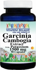 11398 Garcinia Cambogia Extract 1500mg W/Potassium 90caps Buy 1 Get 2 Free