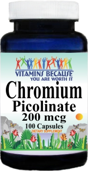 11466 Chromium Picolinate 200mcg 100caps Buy 1 Get 2 Free