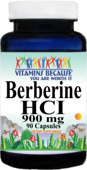 11800 Berberine HCI 900mg 90caps Buy 1 Get 2 Free