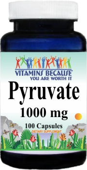12494 Pyruvate 1000mg 100caps Buy 1 Get 2 Free
