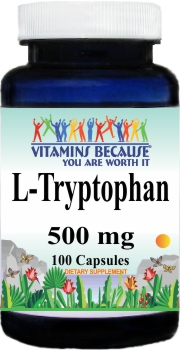 12562 L-Tryptophan 500mg 100caps Buy 1 Get 2 Free