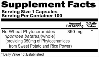 12586 No Wheat Phytoceramides 350mg 100caps Buy 1 Get 2 Free