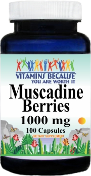 12623 Muscadine Berries 1000mg 100caps Buy 1 Get 2 Free