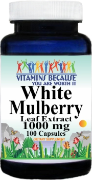 12647 White Mulberry Leaf Extract 1000mg 100caps Buy 1 Get 2 Free