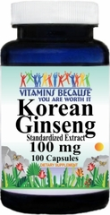 1283 Korean Ginseng Standardized Extract 100mg 100caps Buy 1 Get 2 Free