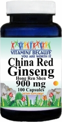 1290 China Red Ginseng 900mg 100caps Buy 1 Get 2 Free