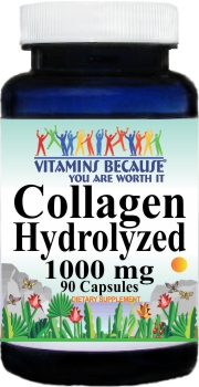 12913 Collagen Hydrolyzed 1000mg 90ct Buy 1 Get 2 Free