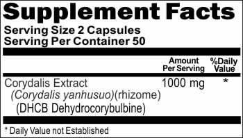 12951 Corydalis Extract DHCB 1000mg 100ct Buy 1 Get 2 Free