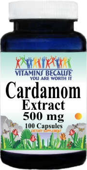 12975 Cardamom Extract 500mg 100ct Buy 1 Get 2 Free