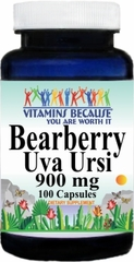 13033 Bearberry Uva Ursi 900mg 100caps Buy 1 Get 2 Free
