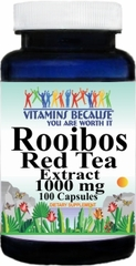 13125 Rooibos Red Tea Extract 1000mg 100caps Buy 1 Get 2 Free