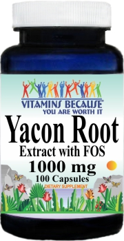 13163 Yacon Root Extract 1000mg 100caps Buy 1 Get 2 Free
