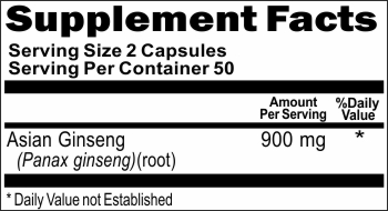 13187 Asian Ginseng 900mg 100caps Buy 1 Get 2 Free