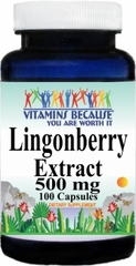 13583 Lingonberry Extract 500mg 100caps Buy 1 Get 2 Free
