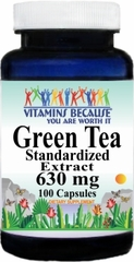 1382 Green Tea Standardized Extract 630mg 100caps Buy 1 Get 2 Free