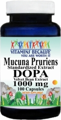 13835 Mucuna Pruriens Extract DOPA 1000mg 100ct Buy 1 Get 2 Free