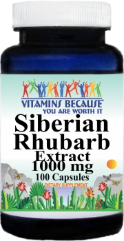 14184 Siberian Rhubarb Extract 1000mg 100caps Buy 1 Get 2 Free