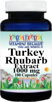14207 Turkey Rhubarb Extract 1000mg 100caps Buy 1 Get 2 Free
