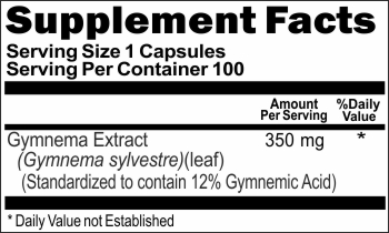 1450 Gymnema Leaf Extract 350mg 100caps Buy 1 Get 2 Free
