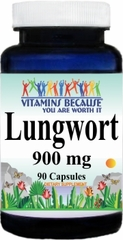 1740 Lungwort 900mg 90caps Buy 1 Get 2 Free