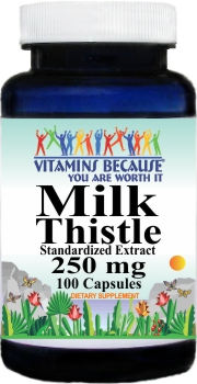 1863 Milk Thistle Standardized Extract 250mg 100caps Buy 1 Get 2 Free