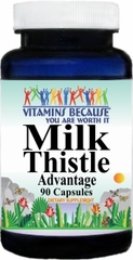 1900 Milk Thistle Advantage 90caps Buy 1 Get 2 Free