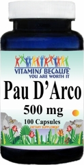 2150 Pau D'Arco 500mg 100caps Buy 1 Get 2 Free