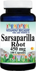 2464 Sarsaparilla Root 450mg 100caps Buy 1 Get 2 Free
