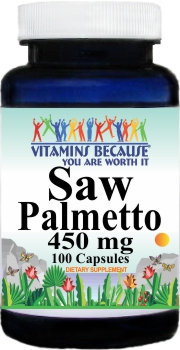 2471 Saw Palmetto 450mg 100caps Buy 1 Get 2 Free