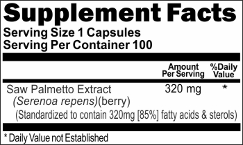 2495 Saw Palmetto Standardized Extract 320mg 100caps Buy 1 Get 2 Free