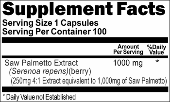 2518 Saw Palmetto Extract 1000mg 100caps Buy 1 Get 2 Free