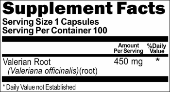 2785 Valerian Root 450mg 100caps Buy 1 Get 2 Free