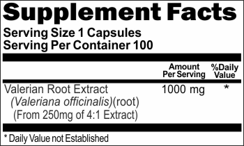 2808 Valerian Root Extract 1000mg 100caps Buy 1 Get 2 Free