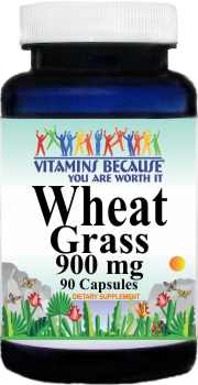 2907 Wheat Grass 900mg 90caps Buy 1 Get 2 Free