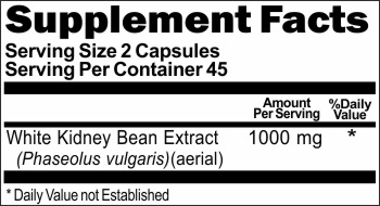 2914 White Kidney Bean Extract 1000mg 90caps Buy 1 Get 2 Free