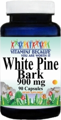 2938 White Pine Bark 900mg 90caps Buy 1 Get 2 Free
