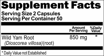 2983 Wild Yam Root 850mg 100caps Buy 1 Get 2 Free