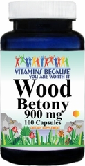 3010 Wood Betony 900mg 100caps Buy 1 Get 2 Free