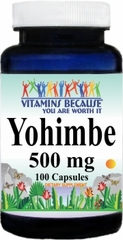 3089 Yohimbe 500mg 100caps Buy 1 Get 2 Free