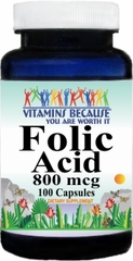 3348 Folic Acid 800mcg 100caps Buy 1 Get 2 Free