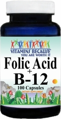 3355 Folic Acid B-12 100caps Buy 1 Get 2 Free