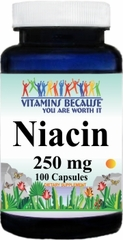 3386 Niacin 250mg 100caps Buy 1 Get 2 Free
