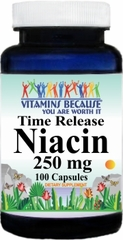 3409 Niacin Time Release 250mg 100caps Buy 1 Get 2 Free