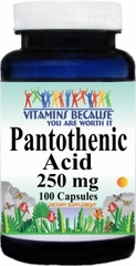 3508 Pantothenic Acid 250mg 100caps Buy 1 Get 2 Free