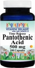 3546 Pantothenic Acid TR 500mg 100caps Buy 1 Get 2 Free