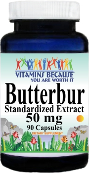 3966 Butterbur Standardized Extract 50mg 90caps Buy 1 Get 2 Free