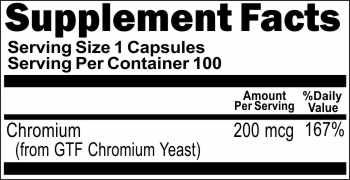 4024 GTF Chromium 200mcg 100caps Buy 1 Get 2 Free