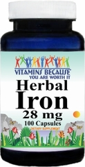 4048 Herbal Iron 28mg 100caps Buy 1 Get 2 Free