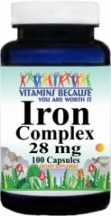4161 Iron Complex 28mg 100caps Buy 1 Get 2 Free