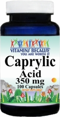 4208 Caprylic Acid 350mg 100caps Buy 1 Get 2 Free